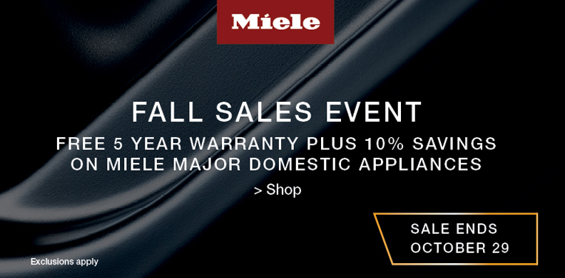 MIELE FALL SALES EVENT