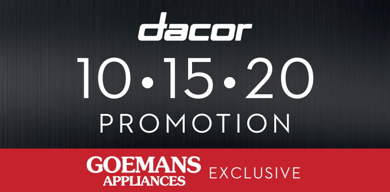 DACOR EXCLUSIVE 10-15-20 PROMOTION