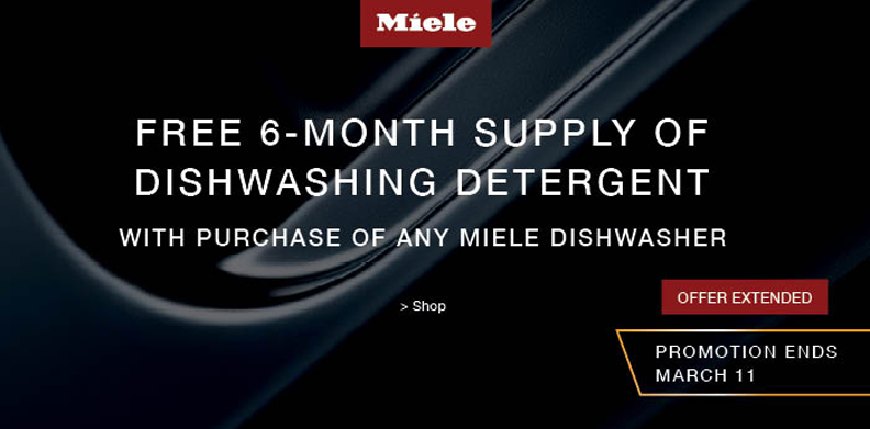MIELE FREE 6-MONTH SUPPLY OF DISHWASHING DETERGENT